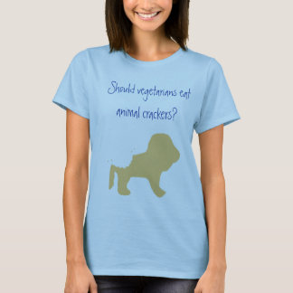 ベジタリアンは動物のクラッカーを食べますか。 Tシャツ
