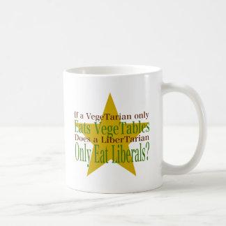 ベジタリアン対自由意志論者 コーヒーマグカップ