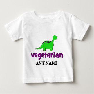ベジタリアン-恐竜のデザイン ベビーTシャツ