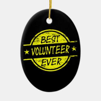 ベストのボランティアの黄色 セラミックオーナメント