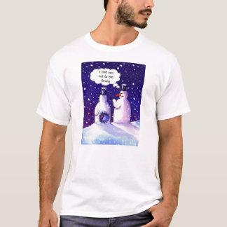 ベストの雪だるまのユーモア Tシャツ