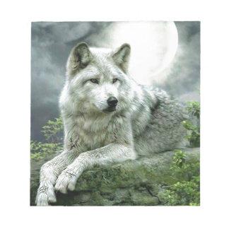 ベストセラーの想像的なオオカミの芸術のイラストレーションPai ノートパッド