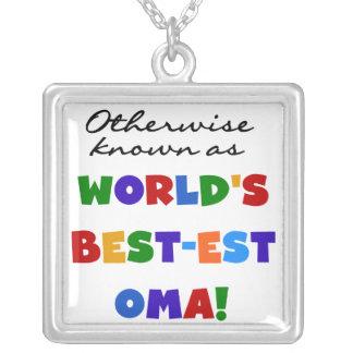 ベスト米国東部標準時刻OmaのTシャツおよびギフトとしてさもなければ知られていて シルバープレートネックレス