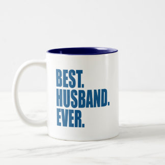 ベスト。 夫。 。 (青) ツートーンマグカップ