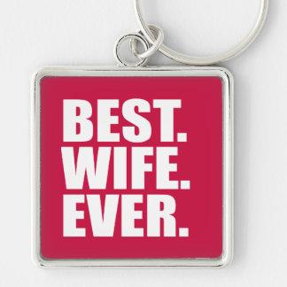 ベスト。 妻。 。 (ピンク) キーホルダー