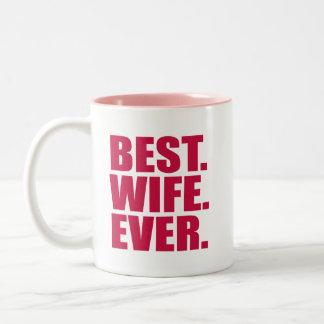 ベスト。 妻。 。 (ピンク) ツートーンマグカップ