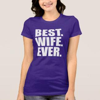 ベスト。 妻。 。 (紫色) Tシャツ