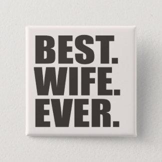 ベスト。 妻。 5.1CM 正方形バッジ