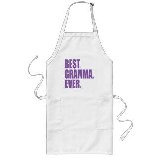 ベスト。 Gramma。 。 (紫色) ロングエプロン