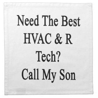 ベストHVAC Rの技術呼出しを私の息子必要として下さい ナプキンクロス