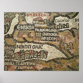 ベスレヘムのエリコの地図からの詳細 ポスター