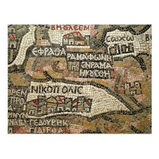 ベスレヘムのエリコの地図からの詳細 ポストカード