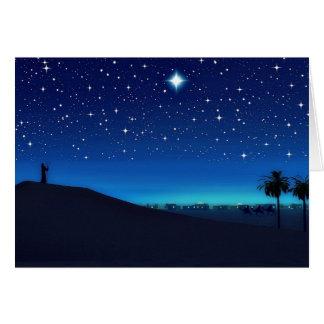 ベスレヘムのクリスマスカード上の星 カード