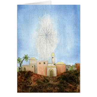 ベスレヘムのクリスマスカード カード