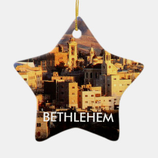 ベスレヘムの星のオーナメント セラミックオーナメント