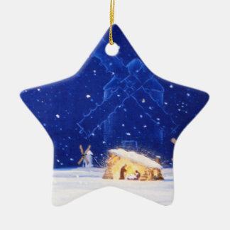 ベスレヘム及びドン・キホーテの星 陶器製星型オーナメント
