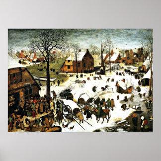 ベスレヘム、Pieter Bruegelの人口調査より古い芸術 ポスター