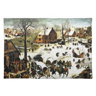 ベスレヘム、Pieter Bruegelの人口調査より古い芸術 ランチョンマット