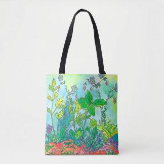 ベズルの薬草園の水彩画 トートバッグ