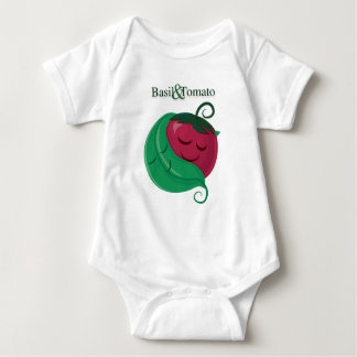 ベズル及びトマト ベビーボディスーツ