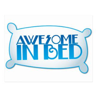 ベッドで素晴らしい ポストカード