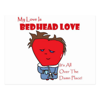 ベッドのヘッド愛 ポストカード