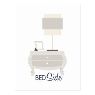 ベッドの側面 ポストカード