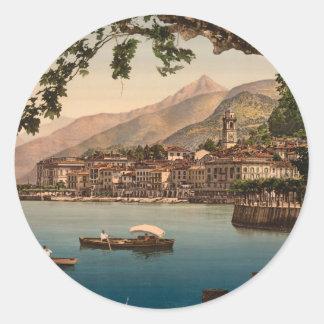 ベッラージョIの湖Como、ロンバルディア、イタリア ラウンドシール