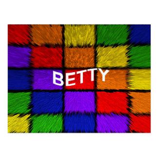 ベティ ポストカード