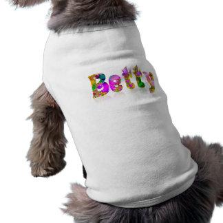 ベティ 犬用袖なしタンクトップ