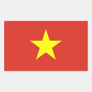 ベトナムかベトナムの旗 長方形シール