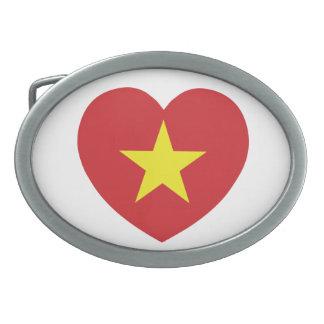 ベトナムのハートの旗 卵形バックル
