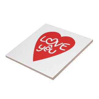 ベトナムのバレンタインの♥愛Yêuの♥のアジア人の言葉遊び タイル