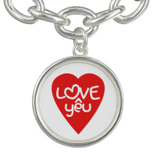ベトナムのバレンタインの♥愛Yêuの♥のアジア人の言葉遊び チャームブレス