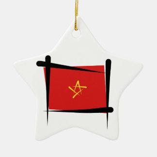 ベトナムのブラシの旗 セラミックオーナメント