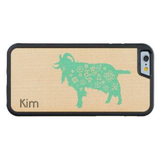 ベトナムのヤギの新年または(占星術の)十二宮図木C CarvedメープルiPhone 6バンパーケース