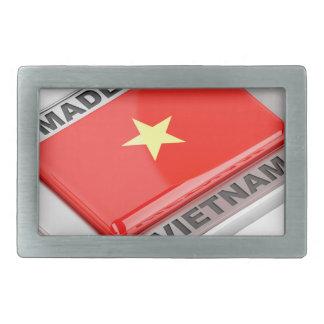 ベトナムの光沢があるバッジで作られる 長方形ベルトバックル