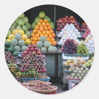 ベトナムの市場 ラウンドシール