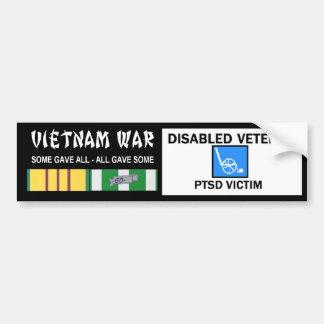 ベトナムの戦争の不具の獣医- PTSDの犠牲者 バンパーステッカー