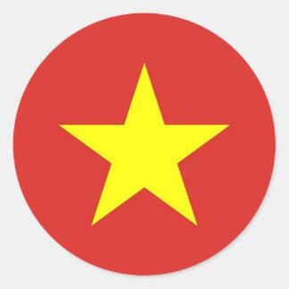 ベトナムの旗が付いているステッカー ラウンドシール