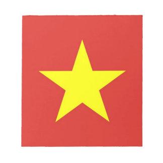 ベトナムの旗が付いているメモ帳 ノートパッド