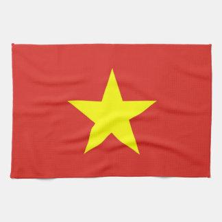 ベトナムの旗が付いている台所タオル キッチンタオル
