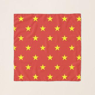 ベトナムの旗が付いている正方形のスカーフ スカーフ