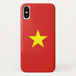 ベトナムの旗とのIphone愛国心が強いXの場合 iPhone X ケース