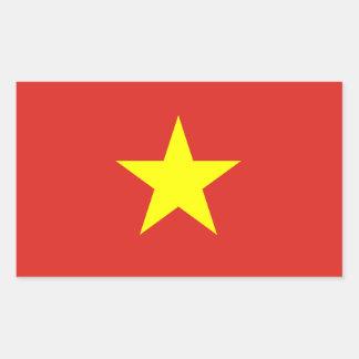 ベトナムの旗のステッカー 長方形シール