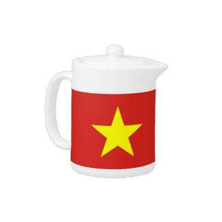 ベトナムの旗のティーポット