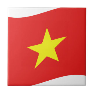 ベトナムの旗の波 タイル