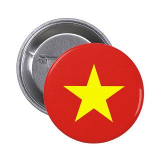 ベトナムの旗ボタン 5.7CM 丸型バッジ