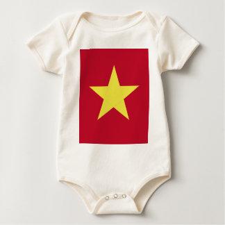 ベトナムの旗 ベビーボディスーツ
