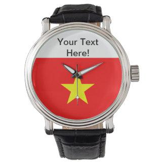 ベトナムの旗 腕時計